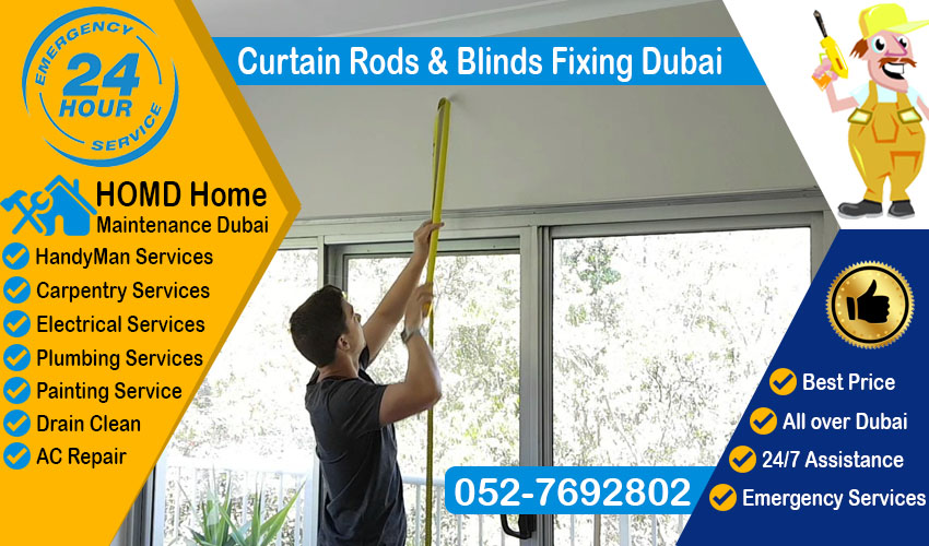 Curtain Rods & Blinds Fixing Dubai