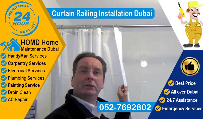 Curtain Railing Installation Dubai