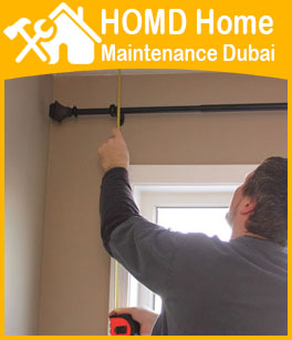 Curtain Rods & Blinds Fixing Dubai Professional Handyman