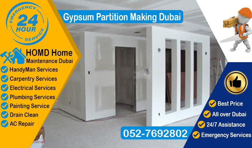 Gypsum Partition Making Dubai