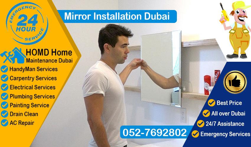 Mirror Installation Dubai