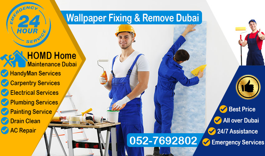 Wallpaper Fixing & Remove & Dubai