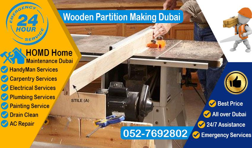 Wooden Partition Making Dubai