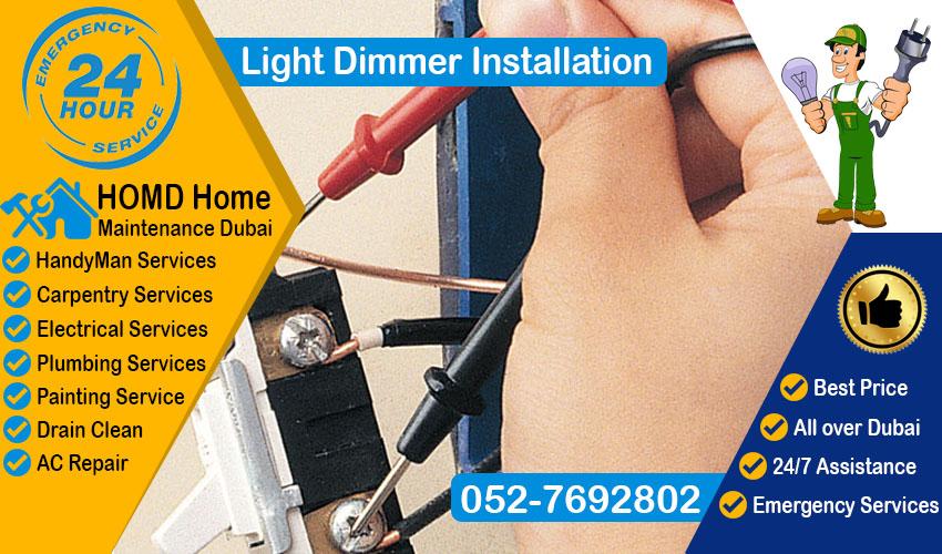 Light Dimmer Installation Dubai
